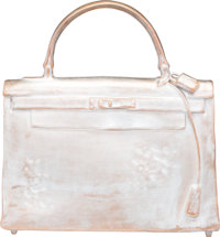 Christian Maas (French, b. 1951) Hermes Kelly Bag Sculpture, Edition of 40, cast circa 1990 Silvered