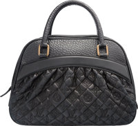 """Louis Vuitton Black Quilted Embossed Leather Bag Very Good to Excellent Condition 14"""" Width x 9.5"""