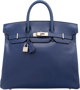 Hermes 32cm Blue Saphir Calf Box Leather HAC Birkin Brushed Palladium Hardware D Square, 2000 Very Good Condition 13&quo...