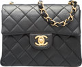 "Luxury Accessories:Accessories, Chanel Black Quilted Lambskin Leather Mini Flap Bag with GoldHardware . Excellent Condition. 7"" Width x 5"" Height x2..."