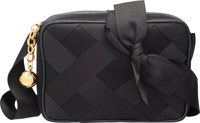 "Chanel Black Satin Ribbon Camera Bag with Gold Hardware Excellent Condition 7"" Width x 5"" Height"