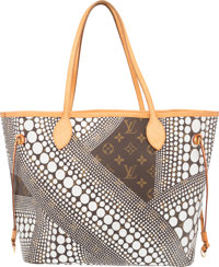 Louis Vuitton White Infinity Dots Classic Monogram Canvas Neverfull Bag by Yayoi Kusama Very Good Condition