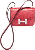 Luxury Accessories:Bags, Hermes 15cm Shiny Fuchsia Alligator Micro Mini Constance Bag withPalladium Hardware. O Square, 2011. Excellent toPri...