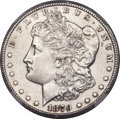 Morgan Dollars, 1879-CC $1 Capped Die, VAM-3A, Top 100 -- Improperly Cleaned -- NGC Details. Unc....