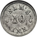 Civil War Merchants, 1863 Sam's Inn Token VF35 NGC. Fuld-LU-Q-1e, R.9. FormerlyFuld-MA115F-1e, R.9....