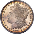 Proof Morgan Dollars, 1891 $1 PR64 Cameo PCGS. CAC....
