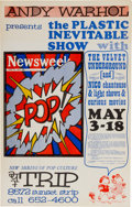 "Music Memorabilia:Posters, Velvet Underground And Nico Concert Poster ""Andy Warhol Presents The Plastic Inevitable Show"" (1966), Rare...."