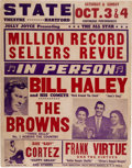 Music Memorabilia:Props, Bill Haley & His Comets State Theatre Concert Poster (1959)....