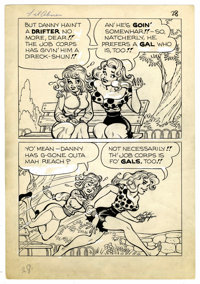 Al Capp Studio Li'l Abner and the Creatures from Drop-Outer Space (#nn) Story Page 28 Original Art (US Dept. of La