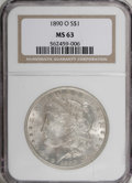 1890-O $1 MS63 NGC. NGC Census: (2404/2267). PCGS Population (2988/3021). Mintage: 10,701,000. Numismedia Wsl. Price for...