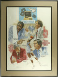Basketball Collectibles:Others, 1980-88 NCAA Final Four Lithograph Signed by John Thompson andPatrick Ewing. Magnificent lithograph was created from the a...