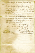 "Autographs:Statesmen, James W. Robinson Autograph Letter Signed ""James W. RobinsonActing Governor"". ..."