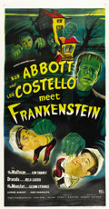 "Movie Posters:Horror, Abbott and Costello Meet Frankenstein (Universal International,1948). Three Sheet (41"" X 81""). ..."