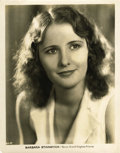 "Movie Posters:Drama, Barbara Stanwyck Portrait Still (Warner Brothers, early 1930s).Still (8"" X 10""). ..."
