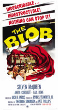 "Movie Posters:Science Fiction, The Blob (Paramount, 1958). Three Sheet (41"" X 81""). ..."
