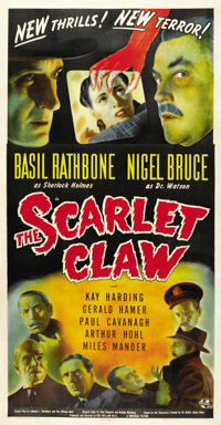 "The Scarlet Claw (Universal, 1944). Three Sheet (41"" X 81"")"