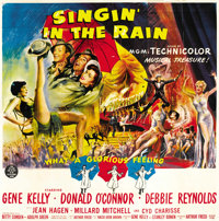 "Singin' in the Rain (MGM, 1952). Six Sheet (81"" X 81"")"