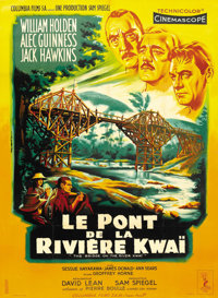 "The Bridge on the River Kwai (Columbia, 1958). French Grande (46"" X 63"")"