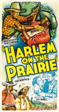 "Movie Posters:Black Films, Harlem on the Prairie (Associated Features, 1937). Three Sheet (41""X 81""). ..."