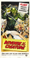 "Movie Posters:Science Fiction, Revenge of the Creature (Universal International, 1955). ThreeSheet (41"" X 81""). ..."