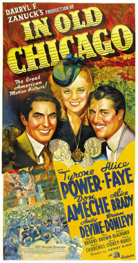 "In Old Chicago (20th Century Fox, 1937). Three Sheet (41"" X 81"")"