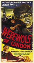 "Movie Posters:Horror, Werewolf of London (Realart, R-1951). Three Sheet (41"" X 81""). ..."