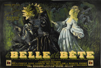 "Beauty and the Beast (DisCina, 1946). French Double Panel (63"" X 94"")"