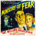 "Movie Posters:Film Noir, Ministry of Fear (Paramount, 1944). Six Sheet (81"" X 81""). ..."