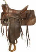 Western Expansion:Cowboy, S. D. Myres Sweetwater Texas Manufactured Western Saddle....