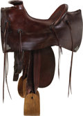 Western Expansion:Cowboy, Mother Hubbard Style Vintage Saddle....