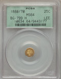 California Fractional Gold , 1880/70 25C Indian Octagonal 25 Cents, BG-799H, High R.6, MS64PCGS. PCGS Population (4/2). . From ...