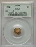 California Fractional Gold , 1870 $1 Goofy Head Octagonal 1 Dollar, BG-1118, Low R.5, AU58 PCGS.PCGS Population (8/18). NGC Census: (1/7). . From ...