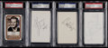 Football Collectibles:Others, Football Greats Signed Index Cards, etc. Lot of 4....