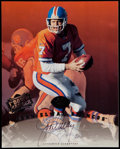 Football Collectibles:Photos, John Elway Signed Leaf Photograph. ...