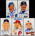 Baseball Collectibles:Others, Baseball Greats Signed Postcards Lot of 5....