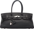 Luxury Accessories:Bags, Hermes 42cm Black Togo Leather JPG Shoulder Birkin Bag withPalladium Hardware. I Square, 2005. Very GoodCondition...