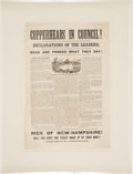 Political:Posters & Broadsides (pre-1896), Peace Democrats of 1863: Anti-Copperhead Broadside from New Hampshire....