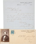 Autographs:Military Figures, Judah P. Benjamin, Confederate Secretary of War: An Important ALS on Confederate War Department Letterhead....