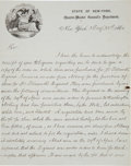 Autographs:U.S. Presidents, Chester A. Arthur: A Most Interesting Letter, Twice-signed by the Future President, as Acting Assistant Quartermaster General ...