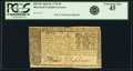 Colonial Notes:Maryland, Maryland April 10, 1774 $4 Fr. MD-68. PCGS Extremely Fine 45.. ...