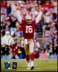 Football Collectibles:Photos, Joe Montana Signed Photograph....