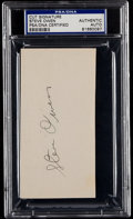 Football Collectibles:Others, Steve Owen Signed Cut Signature....