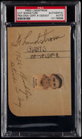 Baseball Collectibles:Others, Fred Lindstrom Signed Album Page....