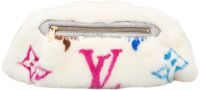 Louis Vuitton Limited Edition White Multicolore Monogram Mink Bum Bag by Takashi Murakami Pristine Condition