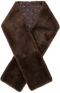 "Luxury Accessories:Accessories, Hermes Brown Nutria Fur Scarf. Very Good Condition. 70""Length x 8"" Width. ..."