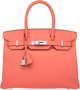 Hermes 30cm Flamingo Epsom Leather Birkin Bag with Palladium Hardware Q Square, 2013  Conditi