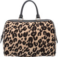 """Luxury Accessories:Bags, Louis Vuitton Limited Edition Leopard Tuffetage & Black Leather Speedy 30 Bag. Excellent Condition. 12"""" Width x 9"""" Hei..."""