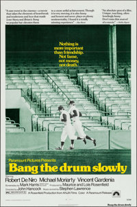 "Bang the Drum Slowly (Paramount, 1973). One Sheet (27"" X 41""). Sports"