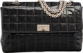 "Luxury Accessories:Bags, Chanel Black Quilted Patent Leather Flap Bag with GunmetalHardware. Very Good to Excellent Condition. 10"" Width x6.5..."