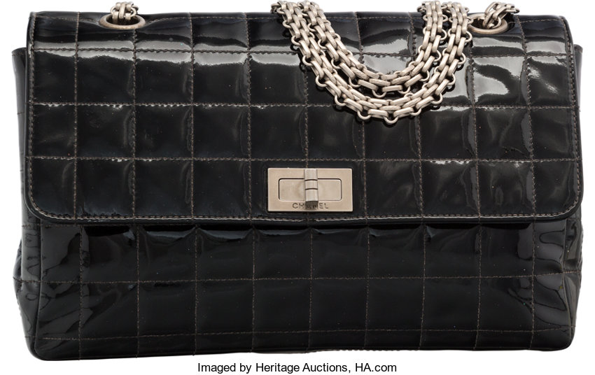 1549595204fc Very; Luxury Accessories:Bags, Chanel Black Quilted Patent Leather Flap Bag  with GunmetalHardware.
